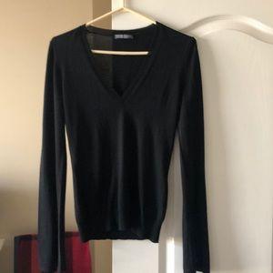 Alexander McQueen wool v-neck sweater